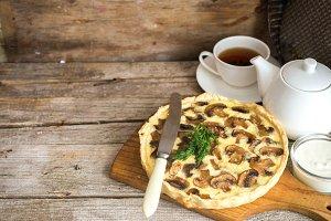 Mushroom pie or quiche