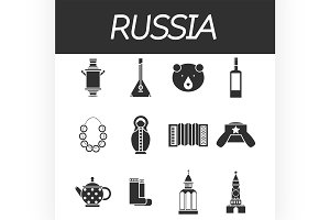 Russia icon set