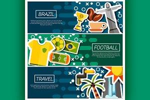 Horizontal Banners about brazil