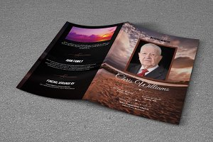 Funeral Program Template-T554