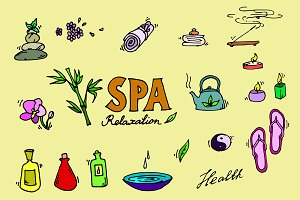 Spa icons set.