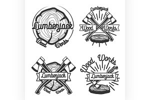 vintage lumberjack emblems