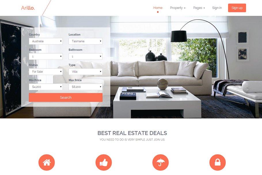 Arillo - Responsive Real Estate