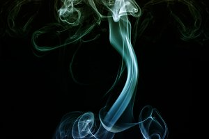 Woman from smoke. Abstract pregnancy