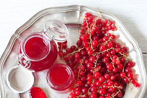 Red currant jelly jam