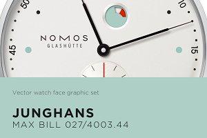 Watch face vector drawing- NOMOS
