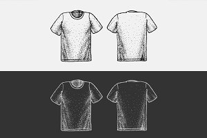 T-shirt in the style of dot work
