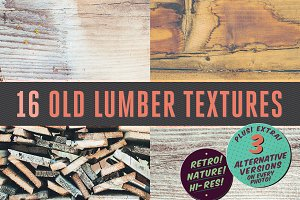 16 Old Lumber Textures
