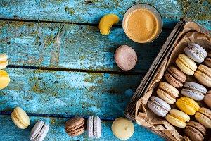 French homemade macarons