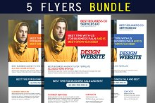 5 Corporate Business Flyers Bundle