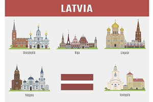 Famous Places cities of Latvia