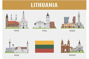 Famous Places Lithuanian cities
