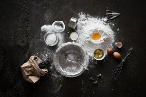 Baking Deconstruced - Flat Lay Scene