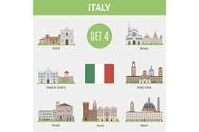Famous Places Italy cities. Set 4