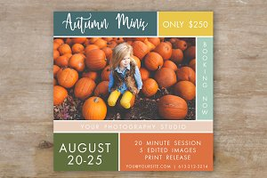 Fall Mini Session Template - Autumn