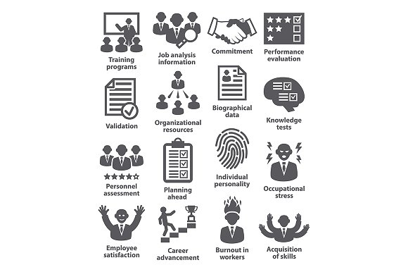 Business management icons. Pack 23. - Icons