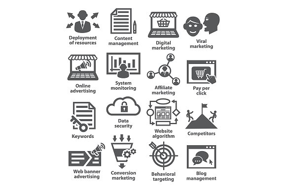 Business management icons. Pack 24. - Icons