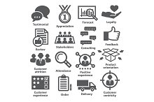 Business management icons. Pack 26.
