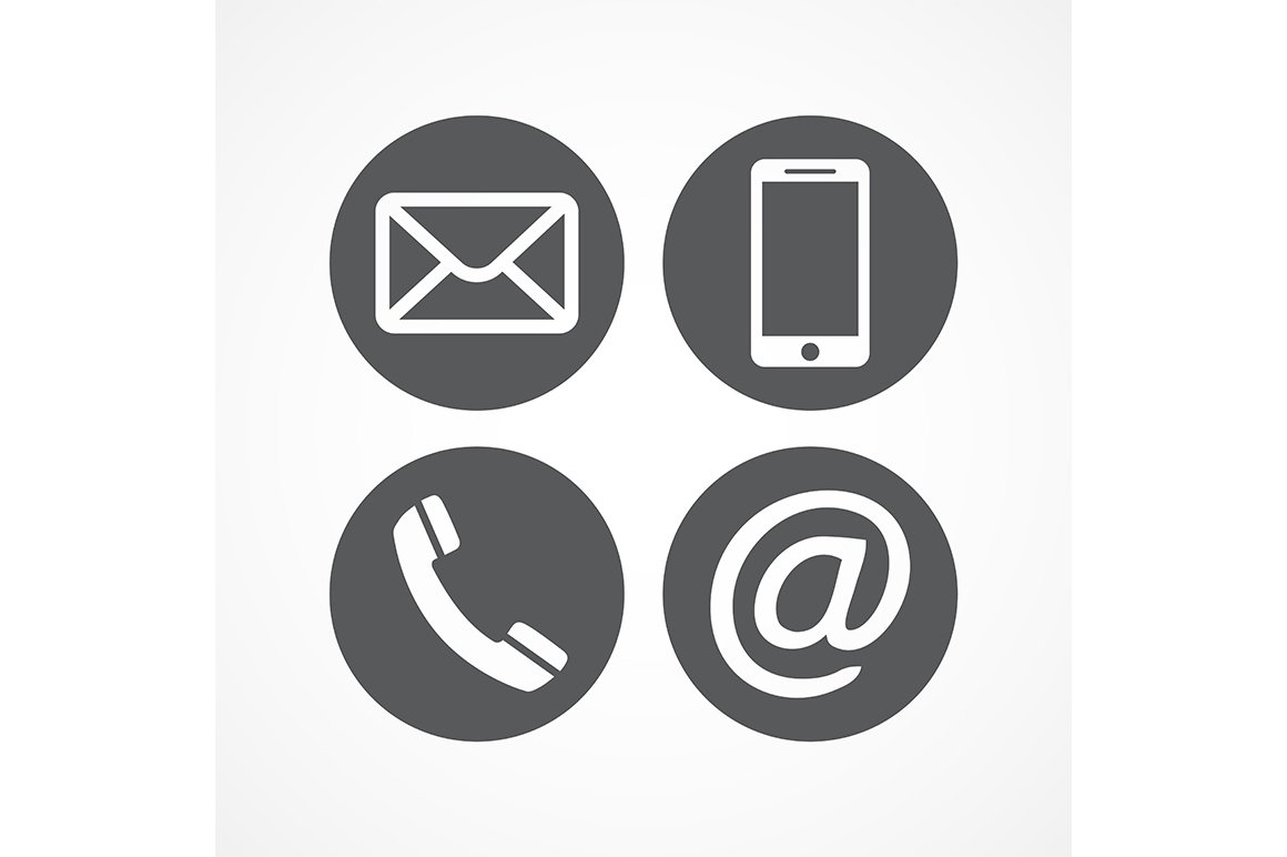 Contact icons ~ Icons ~ Creative Market