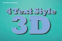 4 Text Style 3D for Adobe Photoshop