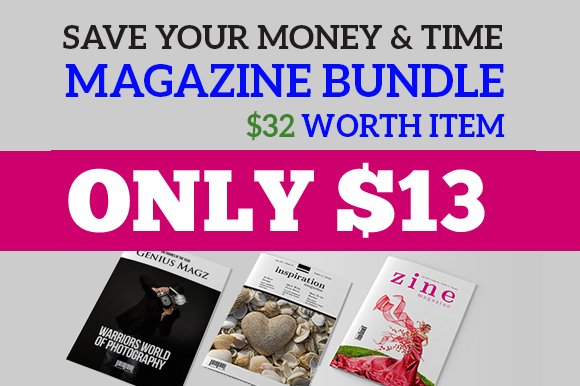 InDesign Magazine Bundle V1