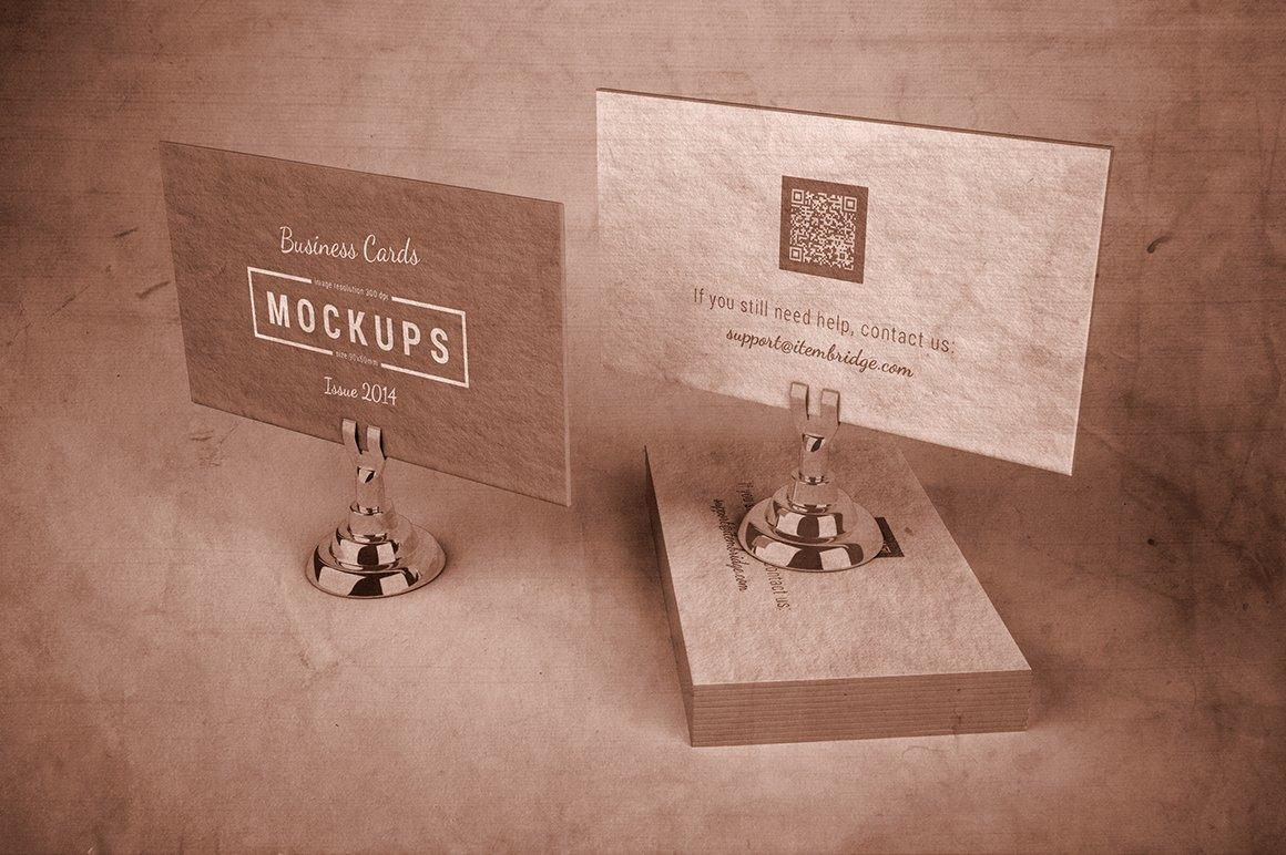 Letterpress business cards mockup product mockups creative market reheart Gallery