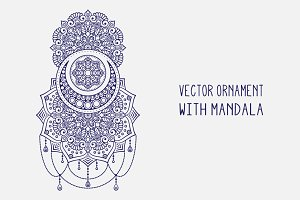Vector mandala + 2 colors