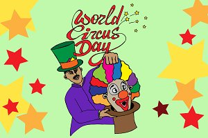 World Circus Day. Vector.