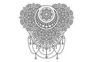 Vector ornament with mandala