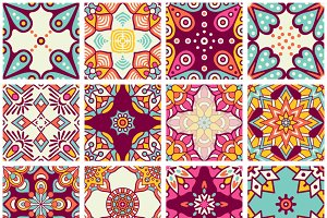 16 seamless patterns in ethnic style
