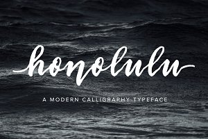 Honolulu | Modern Calligraphy Font