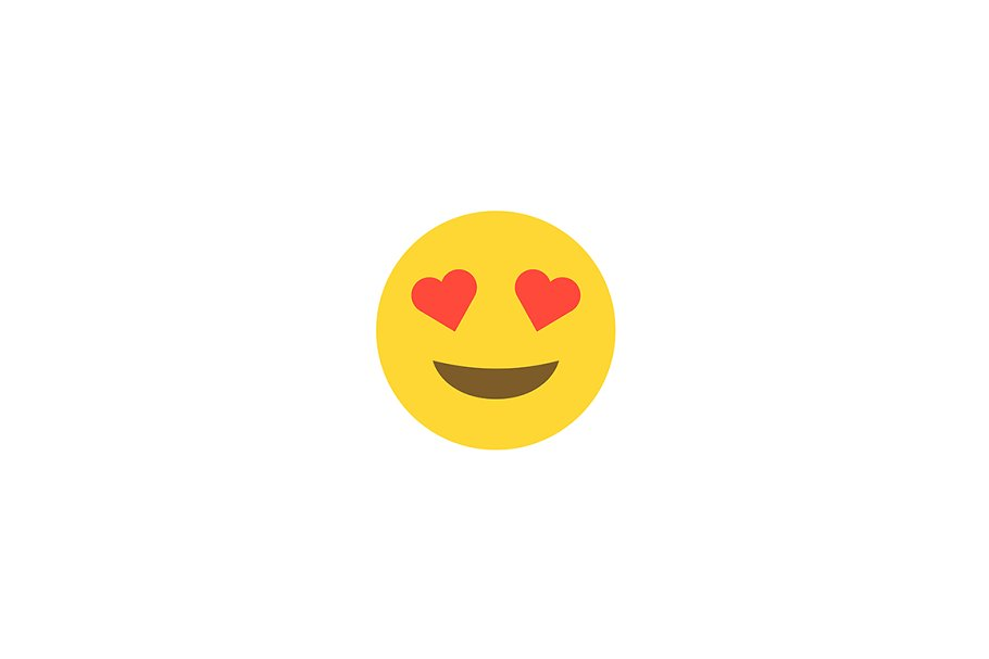 Emoticon emoji face love smile icon