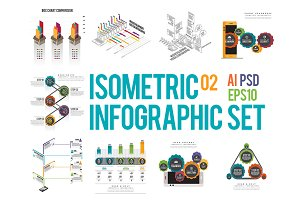 Isometric Infographic Set 02
