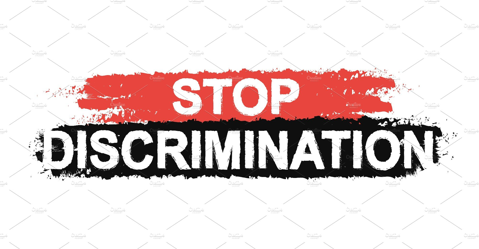 Stop Discrimination Sign Vector Illustrations