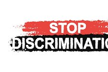 Stop discrimination sign. Vector