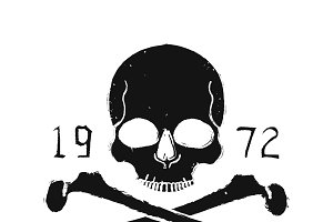 Skull and crossbones. Vector