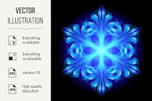 Abstract blue snowflake
