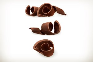 Chocolate shavings, chocolates curl