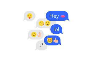 Emoticon emoji chat concept