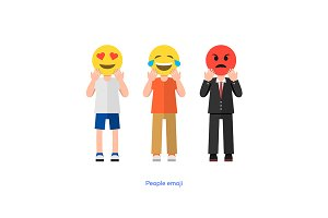 Emoticon people faces
