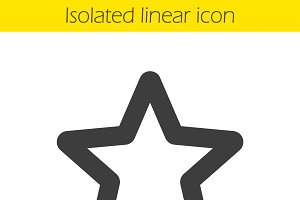 Star mark linear icon. Vector