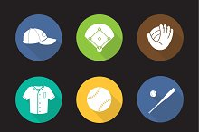 Baseball. 9 icons. Vector