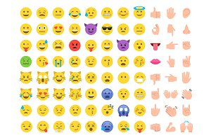 Emoticon emoji big set