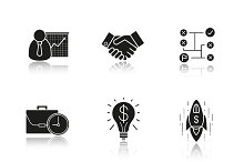Business concepts. 9 icons. Vector
