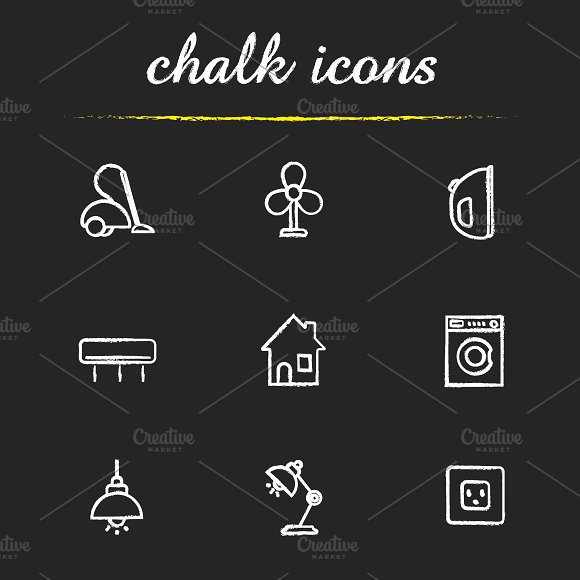 Household appliances 9 icons. Vector - Icons