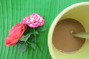 Simple morning with instant coffee