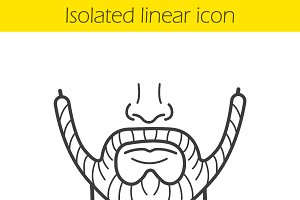 Beard linear icon. Vector