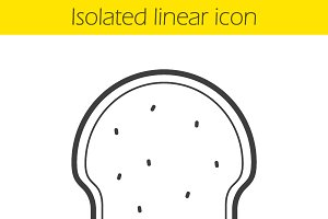 Toast linear icon. Vector