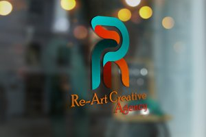 Re~Art Agency Logo Template