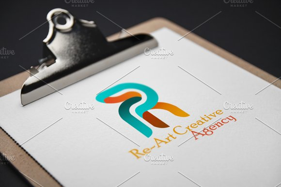 Re~Art Agency Logo Template in Logo Templates - product preview 1